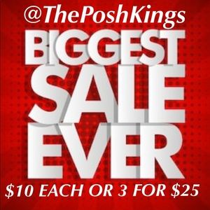 400 ITEMS REDUCED! $10 EACH OR 3 FOR $25
